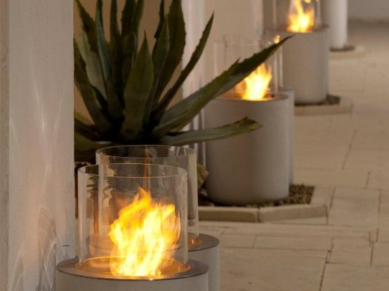 Amazing Modern Fireplaces For Your Outdoor Designsr #outside spaces #@Af's 24/4/13                                                                                                                                                     More