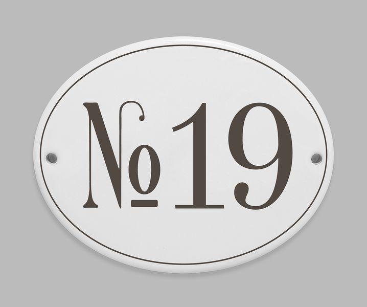 Hausnummer Namensschild Porzellan  von Schild_er_kroete auf DaWanda.com
