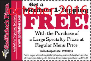 Godfathers Pizza Coupons