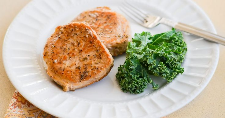Pork is a lean meat, which makes it a healthy protein for low-fat meals. Lean cuts of pork, such as center-cut pork chops have a mild, almost bland flavor, and can dry out quickly. Center-cut pork chops, also known as top loin chops or America's cut, are thick, lean, boneless chops cut from the loin portion of the hog. Treat them first with a...