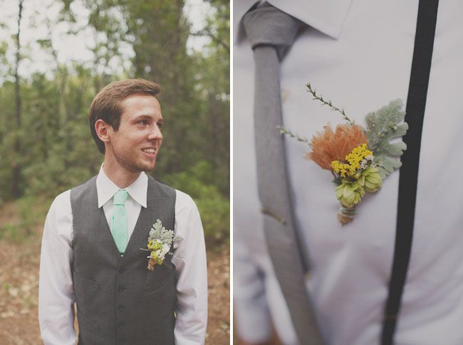 A Handmade Wedding In The Woods Christine Ian Groom Style
