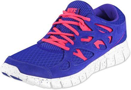 Nike Free Run +2 EXT schoenen blauw neon roze