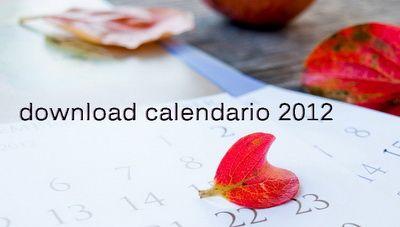Racconti per immagini :: Il calendario 2012 da stampare gratis - Free printable calendar 2012