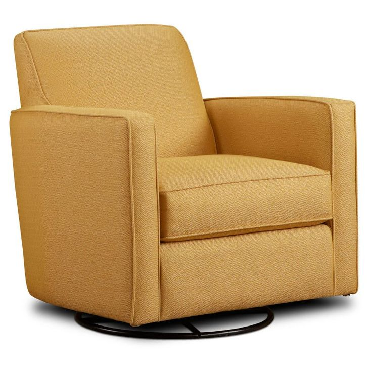 Chelsea Home Furniture Westwood Swivel Glider Chair - Gold Mine Citrine - 55402-G-GMC