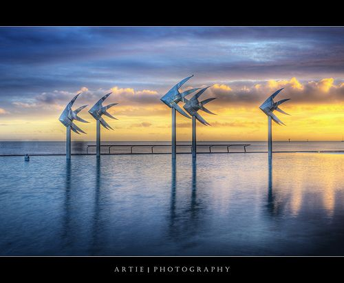 The Esplanade Lagoon, Cairns, Far North Queensland :: HDR