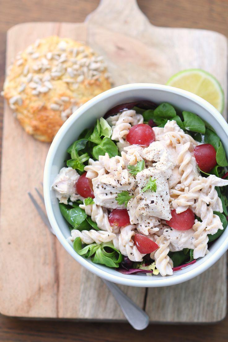Kylling- og pastasalat til lunsj | Sunnere Livsstil
