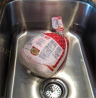 Thawing a Turkey for Cooking Overnight