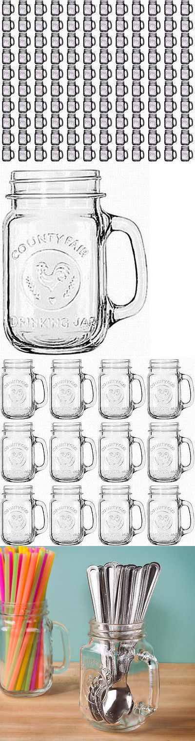 Wedding Supplies 51018: Lot Of 120 Bridal Wedding County Fair Mason Jars With Handles Wholesale 10 Cases -> BUY IT NOW ONLY: $286.95 on eBay!
