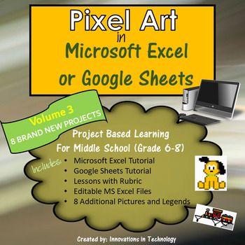 pixel art in microsoft excel or google sheets volume 3 microsoft