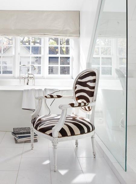 Louis XVI Chair in Zebra upholstery | photo James Tse | House & Home