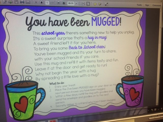 You have been Mugged!  A great way to show someone your care.  A hug in a mug.