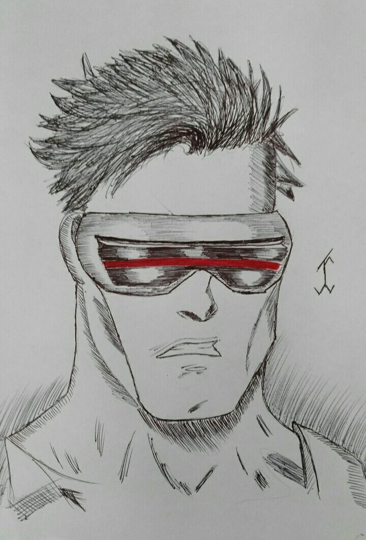 ComicCyclops #cyclops #comic #drawing #draw #pen #art #xman #movie #marvel #marvelcomic