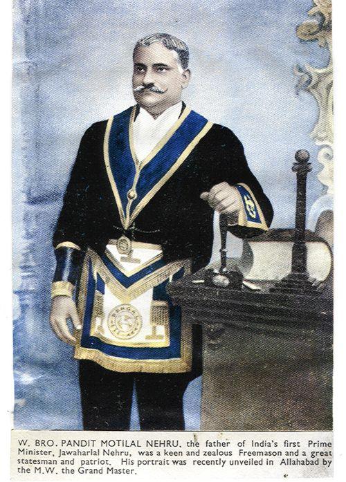 W. Bro. Pandit Motilal Nehru, Freemason