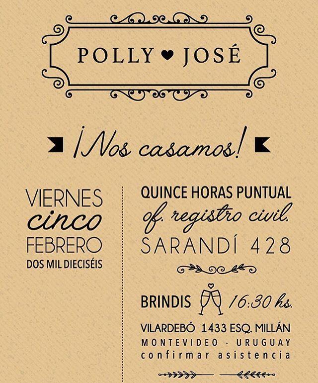 ¡Se casaron Polly&José! Y esta fue su invitación digital, para enviar por…