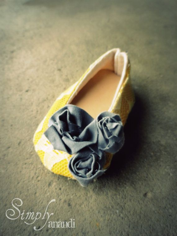 Baby Girl ShoesSpringVintage lace mustard yellow by SimplyAnandi, $20.00