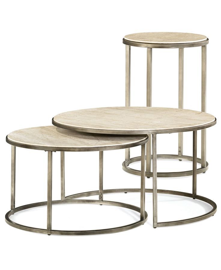Monterey Round Tables 2 Piece Set Nesting Coffee Table And End FurnitureLiving Room