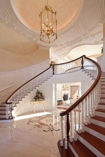 21 best billion dollar homes images on pinterest for Grand staircase design