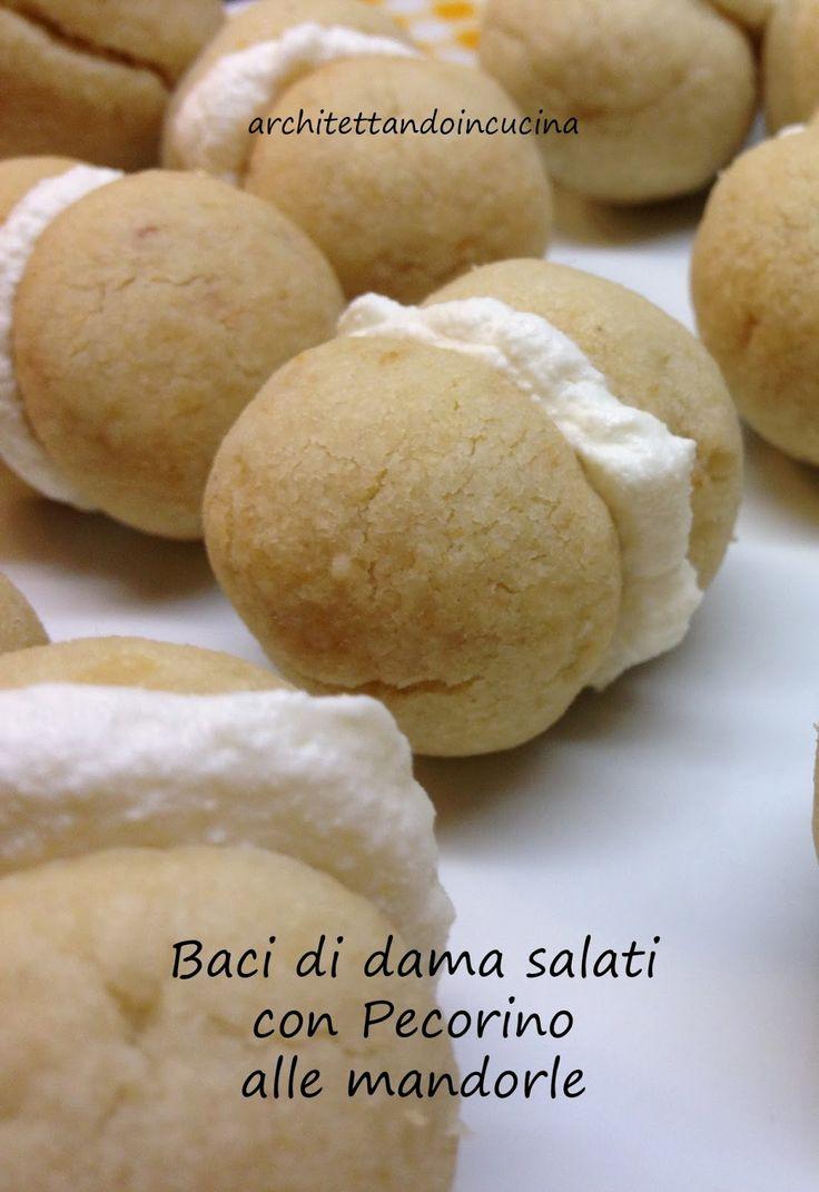 architettando in cucina: Baci di dama salati con Pecorino alle mandorle per la Giornata Nazionale dei Baci di dama