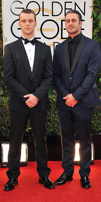 Jesse Spencer and Taylor Kinney - Golden Globes 2014