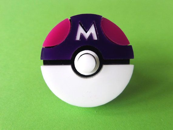 Acrylic Pokéball Ring: POKÉMON MASTER Master Ball Acrylic Adjustable Pokeball Ring