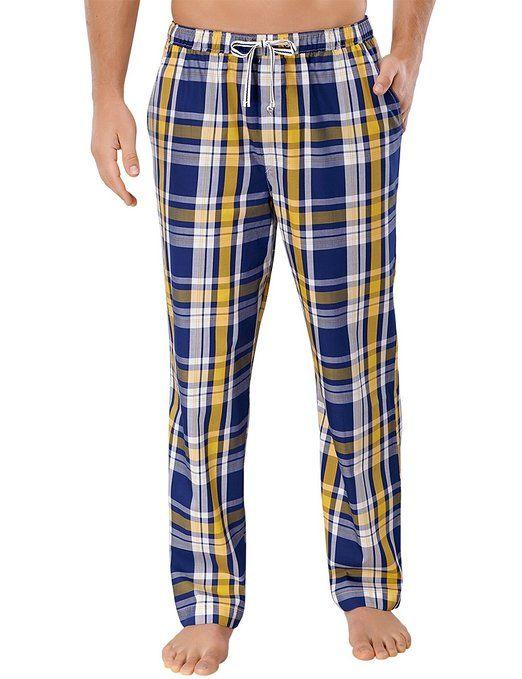 Schiesser Mix & Relax Hose lang - Pijama para hombre, color gelb (gelb 600), talla XXX-Large