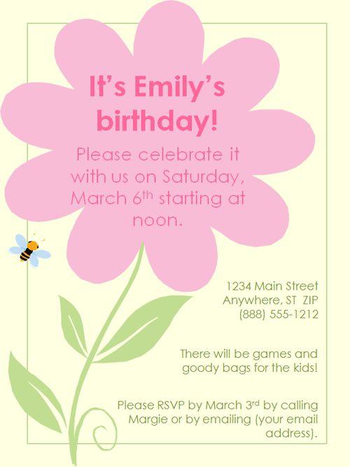 25+ unique Birthday invitation templates ideas on Pinterest Free - invitation birthday template