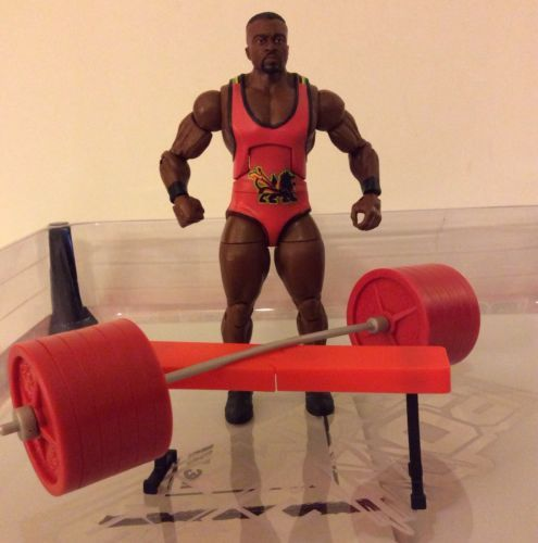 Big E Langston Mattel Elite 26 Loose WWE Action Figure with Bench and Weights | eBay