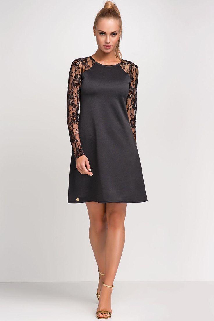 - Stylowa sukienka o lekko trapezowym kroju. #modadamska #moda #sukienkikoktajlowe #sukienkiletnie #sukienka #suknia #sukienkiwieczorowe #sukienkinawesele #sukienkikoronkowe #allettante.pl