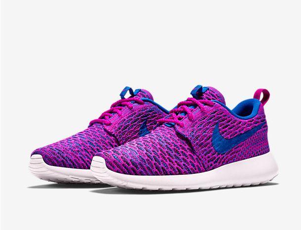 Nike Roshe Flyknit Kráľovská Modrá Fuchsia Biele Dámske Topánky