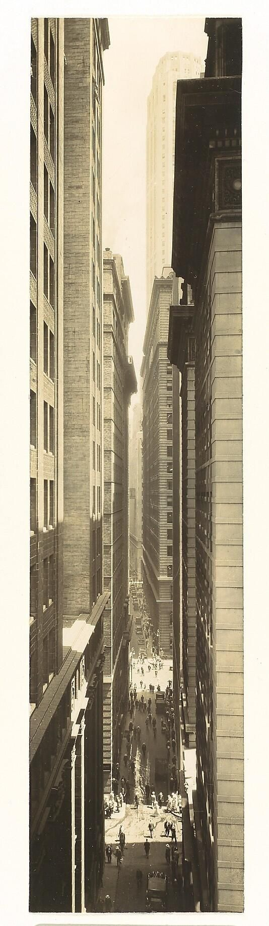 1933: Exchange Place by Berenice Abbott
