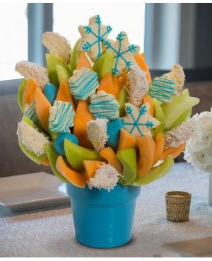 Snowday Blossom scent free fruit bouquet are great for all occasions and make great gifts ideas or decorations from a proud Canadian Company. Great alternative to traditional flowers or fruit baskets