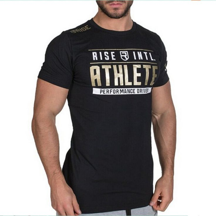 Estate del mens di marca clothing fitness maglietta di modo crossfit  bodybuilding muscolare maschile corto slim