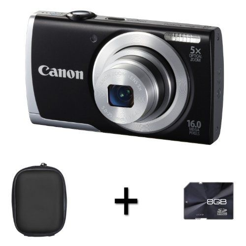 Canon PowerShot A2500 - Black + Case and 8GB Memory Card (16 MP,5x Optical Zoom) 2.7 inch LCD by DiscountedDigital, http://www.amazon.co.uk/dp/B00B9A8GVA/ref=cm_sw_r_pi_dp_BQ6Nsb1PR9329