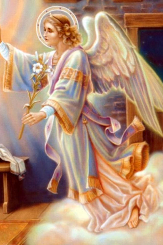 St Gabriel the Archangel: God's divine messenger - Announcing glad tidings to Mary -Foretelling Jesus's birth.