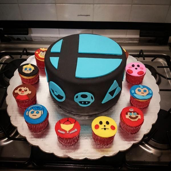 "PlayPokemon on Twitter: ""Pastel Super Smash bros. Wii U #bake #cake # ..."