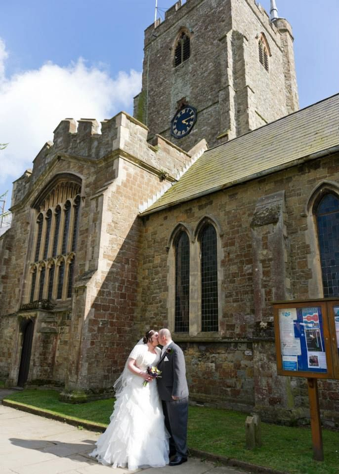 Hubby and I outside St Mary and St Eanswythe's Church Folkestone. Just hitched!
