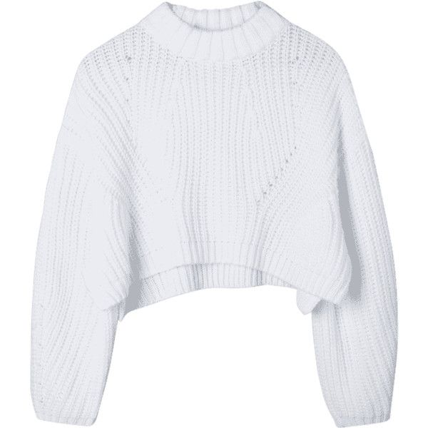 Batwing Sleeve Crop Sweater White S (158160 PYG) ❤ liked on Polyvore featuring tops, sweaters, clothes - tops, white top, cropped sweaters, white sweater, bat sleeve tops and bat sleeve sweater