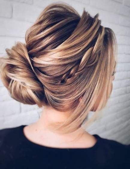 Wedding Hairstyles with Braids Updo Twists 57 Ideas for the Year 2019 #Wedding #Hairstyle ...