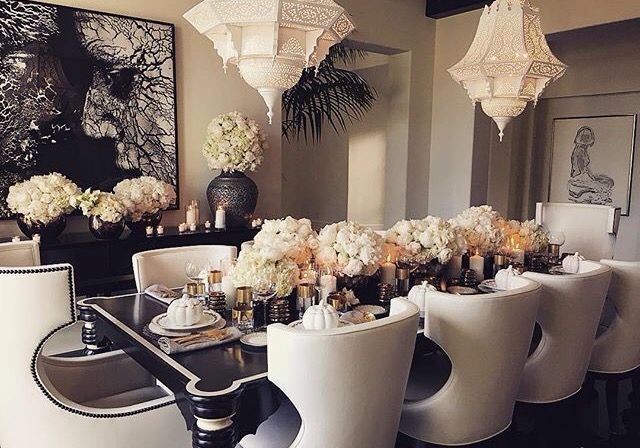 Khlo kardashian inspiration thanksgiving et tables de Kardashian home decor pinterest