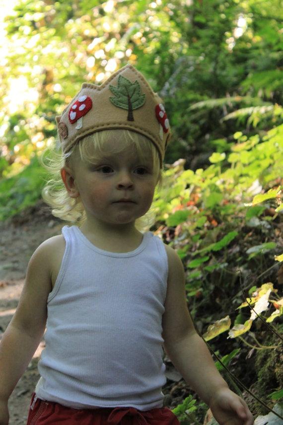 woodland felt crown