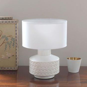 White Geometric Lamp