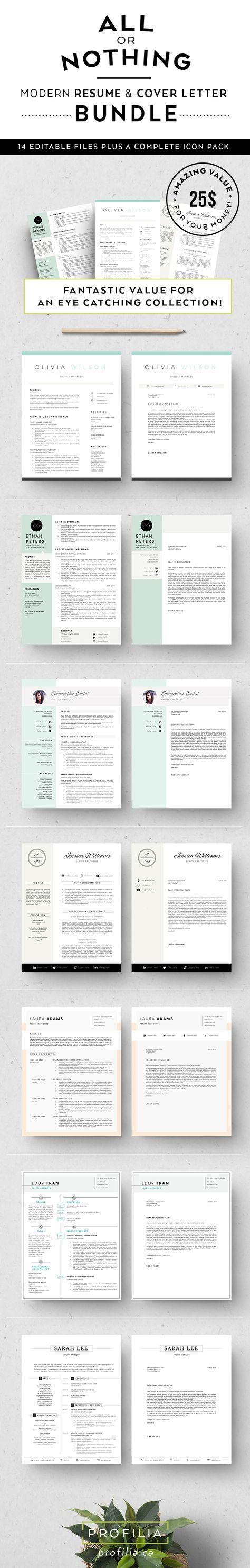 Bundle-Resume & letter Templates