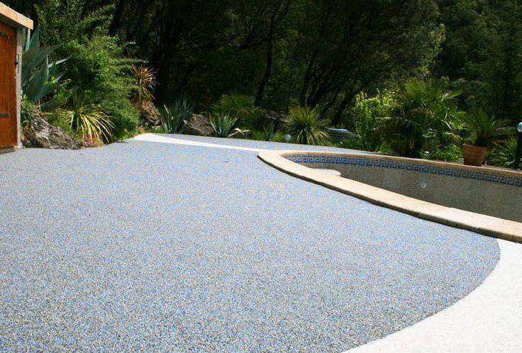 Revêtement de sol enduit polyuréthane / en résine / aspect pierre / texturé - BETON DRAINANT - Harmony béton