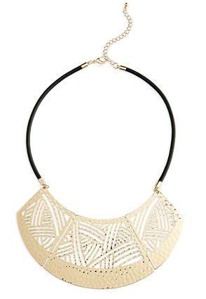 Cato Fashions Tribal Disc Plate Bib Necklace #CatoFashions