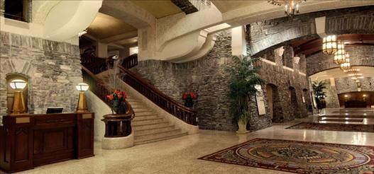 Lobby of The Banff Springs Hotel