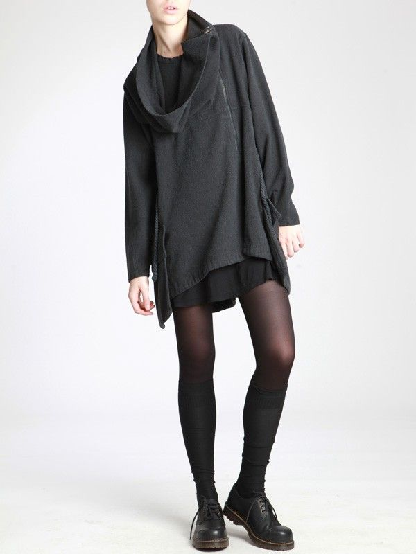 OVERSIZED SWEATER MADE OF WOOLLY THICK COTTON