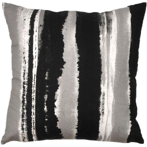 Sinna Black Cushion Cover – The Swedish Fabric Company #home #homedecor #homedecorideas #cushion #livingroom #sofa #countryliving #scandinavianhome #scandistyle #scandinaviandesign