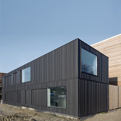 A house located on a former industrial site in Leiden, Netherlands