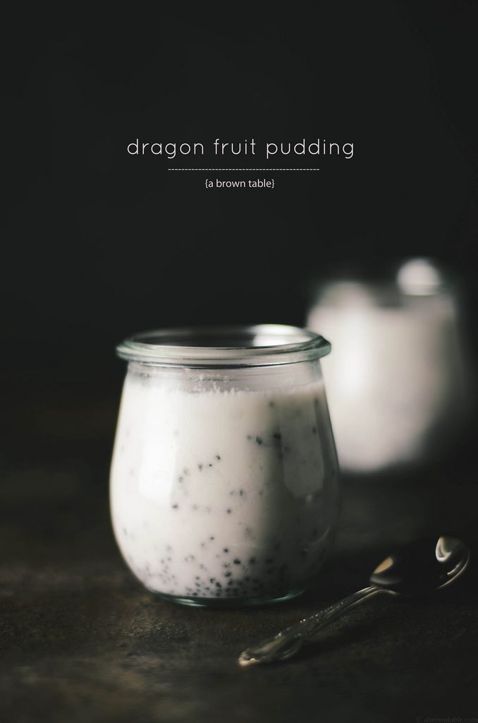 Dragon fruit pudding