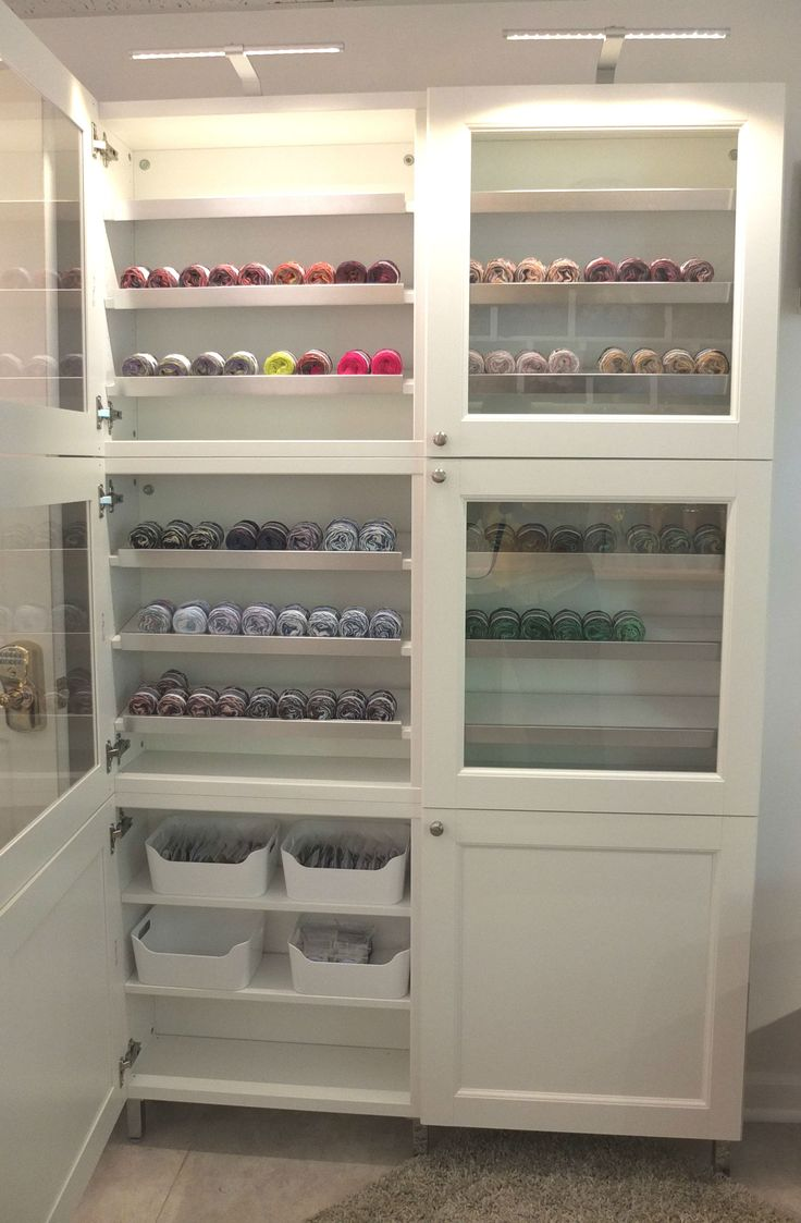 Glass Doors And Lighting Make This Ikea Besta Cabinet A Great Place To Organize And Showcase